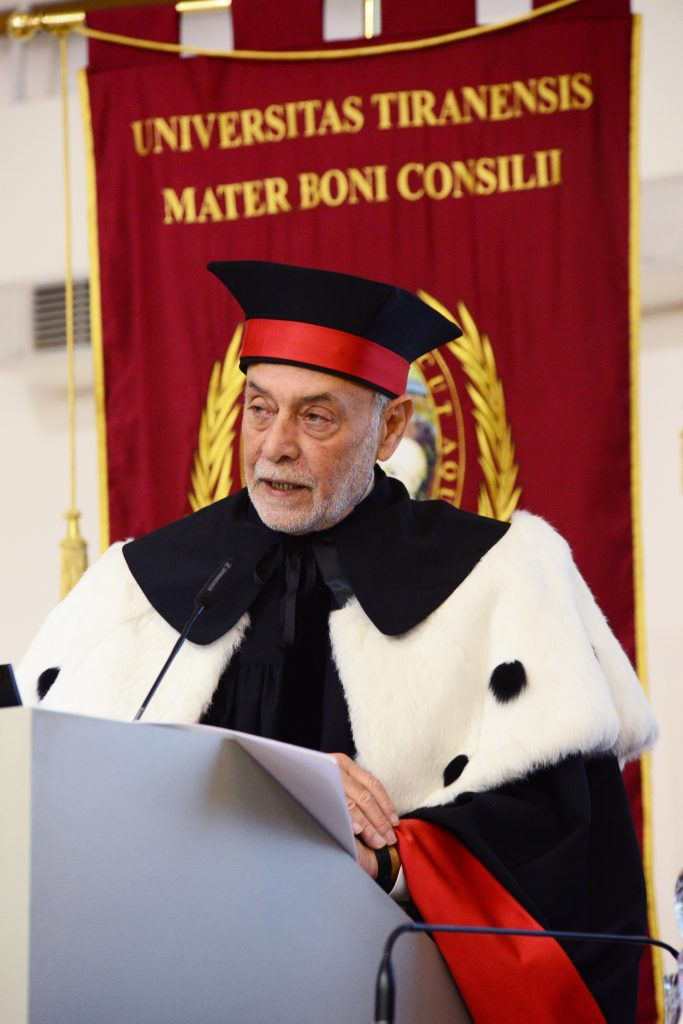 """Formazione Albania: incontriamo il Magnifico Rettore Prof. Bruno Giardina dell'Università Cattolica """"Nostra Signora del Buon Consiglio""""."""
