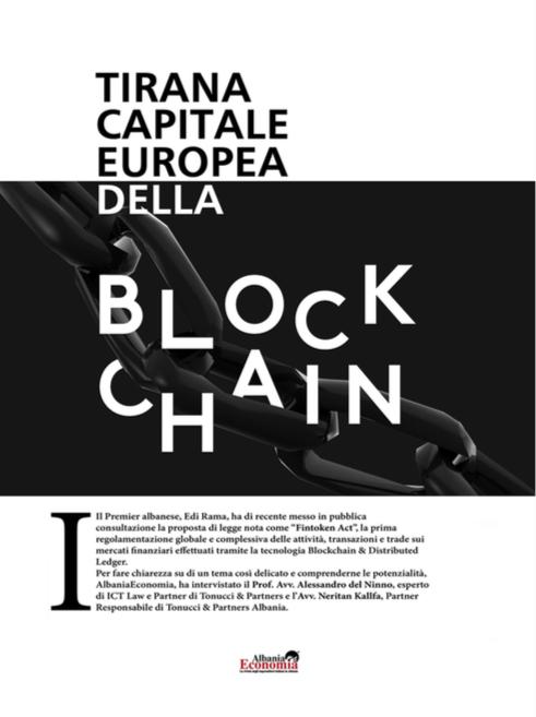 Tirana capitale europea della blockchain.
